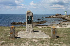 Fisherman Monument, Trevignon, Brittany South coast royalty free stock photos