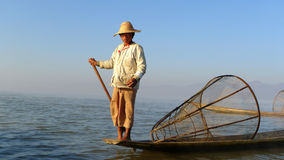 Fisherman in Myanmar Royalty Free Stock Images