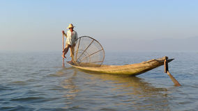 Fisherman in Myanmar Stock Photography