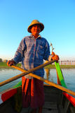 Fisherman in Myanmar Stock Image