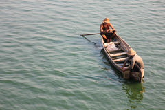 Fisherman. 25/04/2014 Myanmar Fisherman from Ubein bridge. Amarapura Mandalay Myanmar Stock Photography