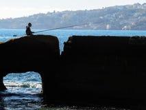Pescatore a napoli stock images