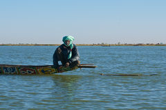 Fisherman on the Niger river Stock Photography