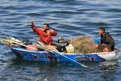 Fisherman on the Nile Royalty Free Stock Photography