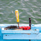 Fisherman old tools Royalty Free Stock Photo