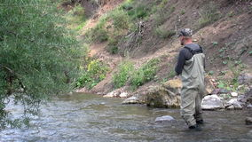 Fisherman in Outfitting stock video