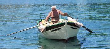 Fisherman Paxos Royalty Free Stock Photo