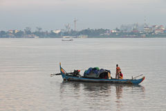 Fisherman In Phnom Penh Royalty Free Stock Images