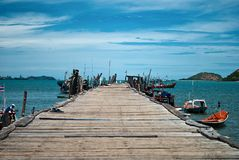 Fisherman pier Stock Images