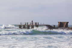 Fisherman Pier Jetty Ocean stock image