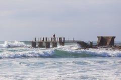 Fisherman Pier Jetty Ocean Stock Image
