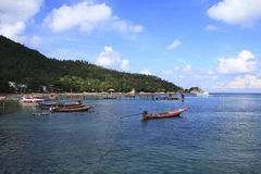 A fisherman pier on the south side of Koh Phangan Stock Image