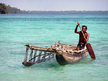 Fisherman pirogue Stock Photography