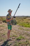 Fisherman is preparing to go fishing royalty free stock photo