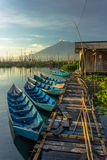 Fisherman. Rawa pening lake central java indonesia Royalty Free Stock Image