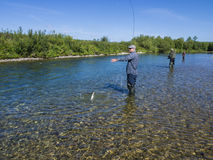 A fisherman on the river Stock Photography