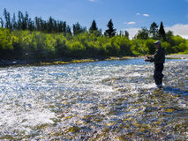 A fisherman on the river Royalty Free Stock Images