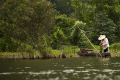 Fisherman in river Royalty Free Stock Photography