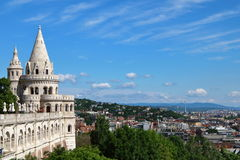 Fisherman's Bastion Budapest 2. City view of Budapest from Fisherman's Bastion on Buda's castle hill, Hungary Stock Photo