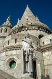 The Fisherman's Bastion, Budapest, Hungary. The Fisherman's Bastion is one of the most popular sight in the Royal Palace district of Budapest Royalty Free Stock Image