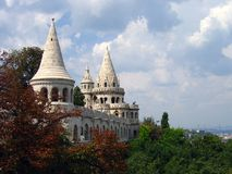 Fisherman's Bastion - Budapest, Hungary. Build by Schulek in 1902, The Fisherman's Bastion in Budapest, is so named because this stretch of Buda's defensive Royalty Free Stock Image