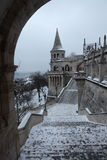 Fisherman's Bastion in Budapest,Hungary,5,Jan 2016 Stock Photos