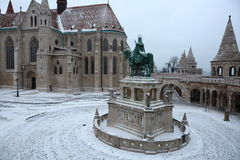 Fisherman's Bastion in Budapest,Hungary,5,Jan 2016 Royalty Free Stock Photography