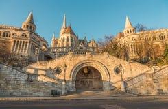 Fisherman's Bastion in Budapest, Hungary at Sunrise Stock Photography