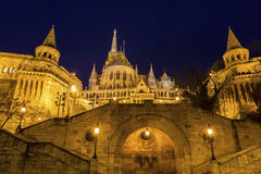 Fisherman's Bastion in Budapest, Hungary. View on Fisherman's Bastion in Budapest, Hungary royalty free stock photos