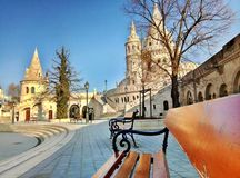 Fisherman`s bastion in Budapest Hungary stock photography