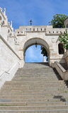 Fisherman`s Bastion Budapest 3. Long staircase leading up to the Fisherman`s Bastion on Buda Hill in Budapest, Hungary Stock Images