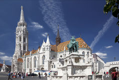 Fisherman's Bastion in Budapest, royalty free stock images