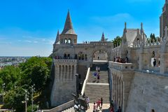 Fisherman`s Bastion in Budapest Royalty Free Stock Images