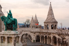 Fisherman's Bastion. On the Castle Hill in Budapest, Hungary Stock Image