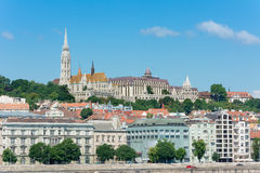 Fisherman's Bastion and Matthias Church Budapest Stock Photo