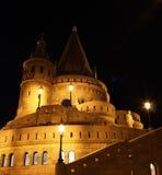 Fisherman's Bastion at night. Budapest, Hungary - Fisherman's Bastion  at night Royalty Free Stock Photo