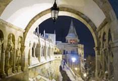 Fisherman's Bastion at night, Budapest Stock Photos