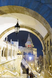 Fisherman's Bastion at night, Budapest Stock Photography