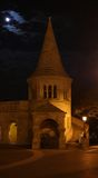 Fisherman`s bastion at night. One of Fisherman`s bastion towers at night, Budapest Stock Image