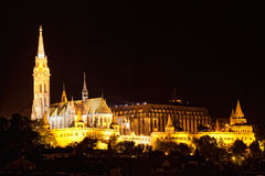 Fisherman's bastion night view Royalty Free Stock Image