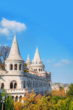 Fisherman's bastion on a sunny day in Budapest, Hungary Royalty Free Stock Images