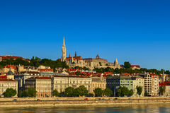 Fisherman's bastion. View in the city of budapest Royalty Free Stock Photos