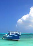 Fisherman's boat in Aruba royalty free stock photos