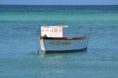 Free Fisherman`s Boat Off Palm Beach In Aruba Stock Photos - 99685633