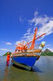 Fisherman's boat in Prachuap Beach. Fisherman's boat in Thailand Stock Photography
