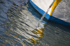 Fisherman's boat and reflection. Fisherman's boat mooring in The Sea Royalty Free Stock Image