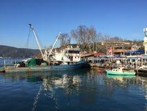 Fisherman's boat. A shot of a fisherman's boat taken at Bosphorus, Istanbul Turkey Royalty Free Stock Image