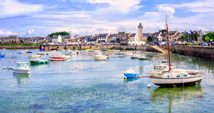 Fisherman's boats in the harbour of Roscoff, Brittany, France Stock Photography
