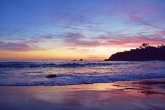 Fisherman's Cove Sunset Stock Image