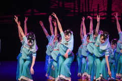 """Fisherman's daughter-Dance drama """"The Dream of Maritime Silk Road"""". Dance drama """"The Dream of Maritime Silk Road"""" centers on the plot of two generations Stock Image"""